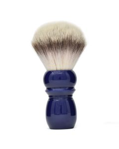 Alpha Large Retro Synthetic Shaving Brush in Vintage Blue