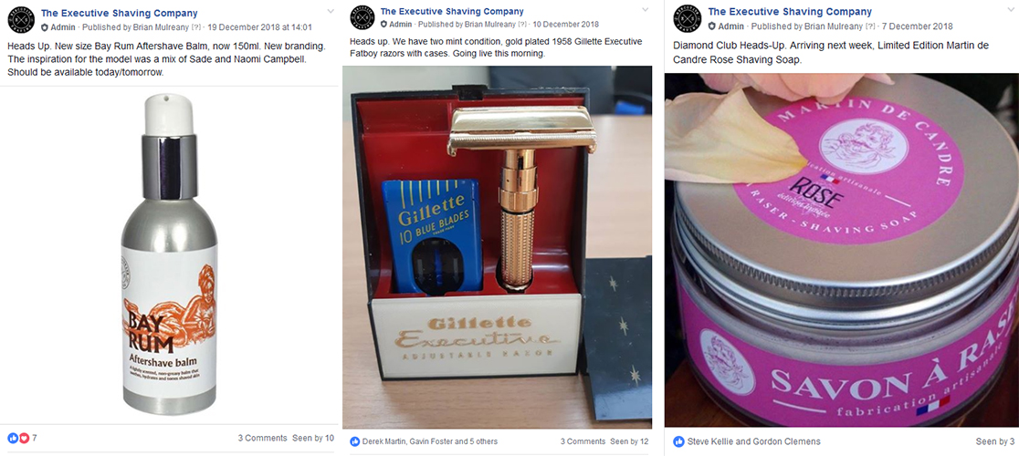Join Executive Shaving Diamond Club Facebook Page
