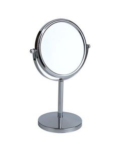 5x Magnification Polished Silver Pedestal Mirror