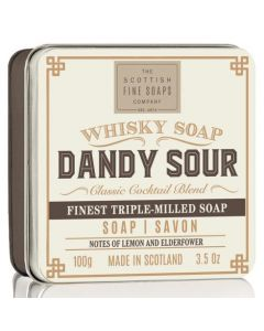 Scottish Fine Soaps Dandy Whisky Sour Soap In A Tin 100g