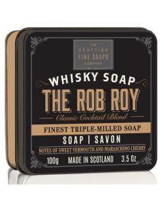 Scottish Fine Soaps The Rob Roy Whisky Soap In A Tin 100g