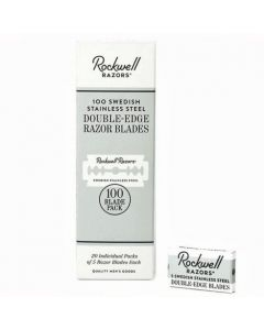 100 Pack Rockwell Double Edge Safety Razor Blades