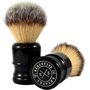 Medium Jock Black Synthetic Shaving Brush